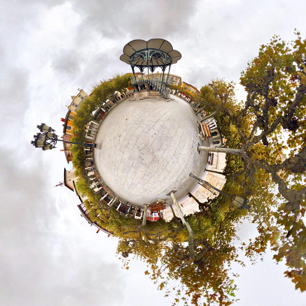 Plaza Mayor, Briviesca - Tiny Planet